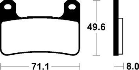 Brzdové destičky - Dual carbon Suzuki GSX-R 1000 2004 - 2011