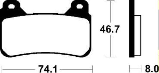 Brzdové destičky - Dual carbon Honda CBR 600 RR 2004 - 2014