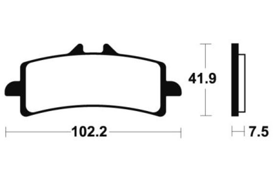 Brzdové destičky - Dual carbon BMW S 1000 RR HP4 2013 - 2014