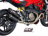 Slip-on GP-TECH carbon twin Ducati Monster 1200 / S 2014 - 2016