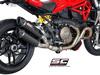 Slip-on GP-TECH carbon twin Ducati Monster 1200 / S 2014 - 2016