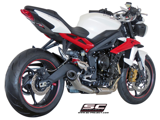 Slip-on Conic nerez Triumph Street Triple 675 / R / RX 2013 - 2016