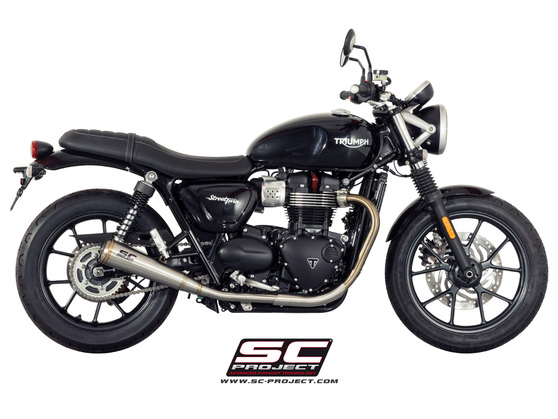Dual Slip-on Conic 70s Triumph Street Twin