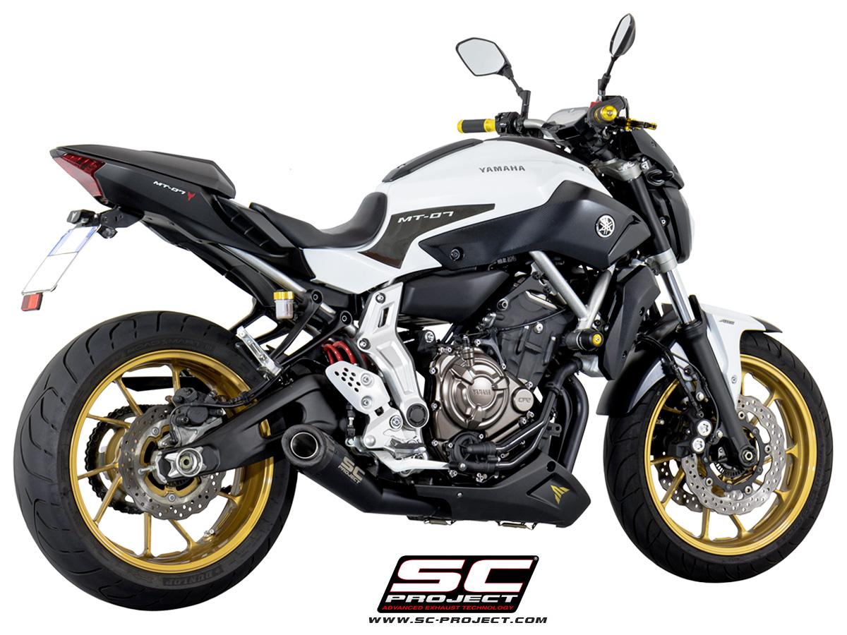Full System 2 1 Conic Black Edition Yamaha Mt 07 Fz 07
