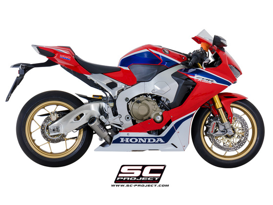 Slip-on CR-T titanium low Honda CBR 1000 RR Fireblade 2017 - 2018