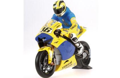 Model motocyklu a Valentina Rossiho