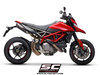 Dual Slip-on SC1-M Carbon Ducati Hypermotard 950 / SP 2019