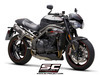Dual Slip-on SC1-M Carbon Triumph Speed Triple 1050 S / RS 2018 - 2019