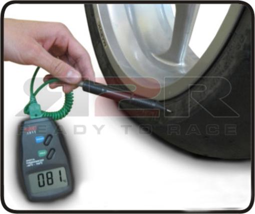 Digitální měřící přístroj teploty pneumatik