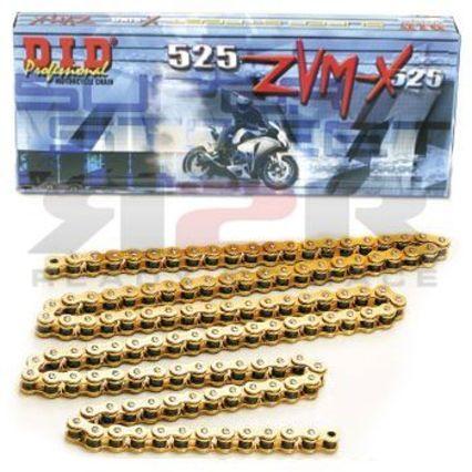 D.I.D řetěz 525ZVMX-118 článků (Zlatá barva řetezu) BMW S 1000 RR 2009 - 2013