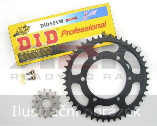 D.I.D Řetezová sada - Zlatá barva řetezu Ducati 748 1998 - 2003