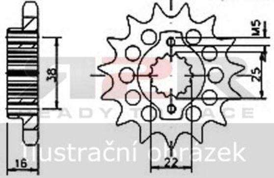 Přední řetězové kolečko - 15 zubů  Aprilia RXV 450 2006 - 2012
