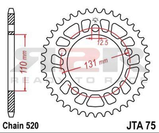 Rozeta 46 zubů BMW S 1000 RR 2009 - 2013