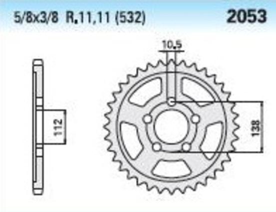 Přední řetězové kolečko - 14 zubů Yamaha YZF-R6 2003 - 2014